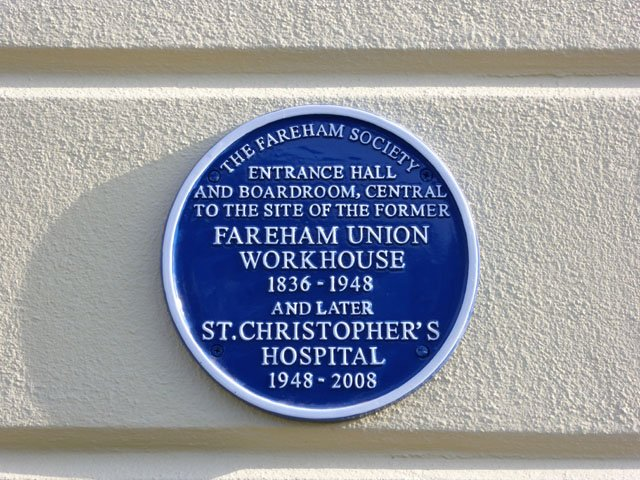 Workhouse plaque